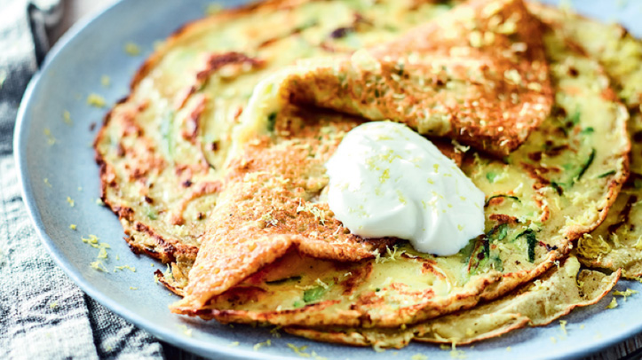 Quick and delicious budget recipes: Courgette lemon pancakes