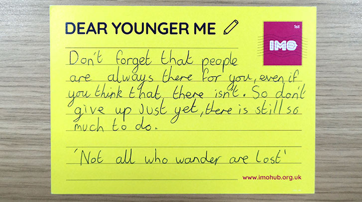 Dear younger me: Speaking up and getting help
