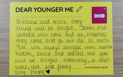 Dear younger me: Mental health