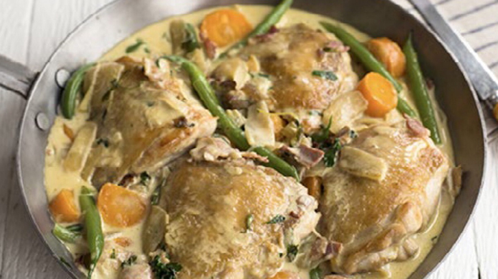 Quick and delicious budget recipes: Creamy mustard chicken and winter veg
